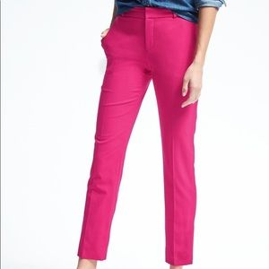 NWT Banana Republic Ryan Straight Leg Pink Pant 4